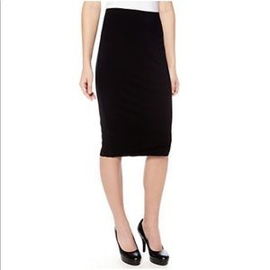 Vince Camuto Black Knit Pull On Pencil Skirt Sz PS